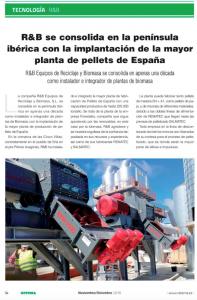 Noticia Retema R&B La mayor planta de pellets de España